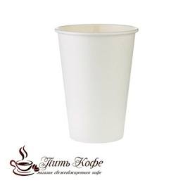 Бумажные стаканы 205 мл белый